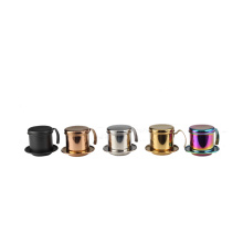 Colorful Stainless Steel Vietnamese Coffee Drip Filter Maker