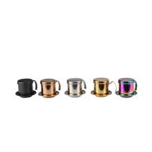 Fabricante de filtro de goteo de café vietnamita de acero inoxidable colorido