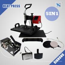 Combo Heat Pressione 5 Em 1 Cap Press, Mug Press, T Shirt Press Máquina Sublimação