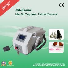 1064nm 532nm máquina de remoção de tatuagem de 1320nm Lase portátil K8