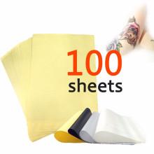 100 hojas de tatuaje de carbón térmico Stencil transferencia de papel 8.5x11 unidades maestras