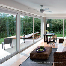 Feelingtop Fenêtre fixe en aluminium trempé double standard européen de verre