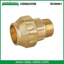 Coupe en laiton de qualité supérieure en compression Couple de raccordement mâle PE (IC-7004)