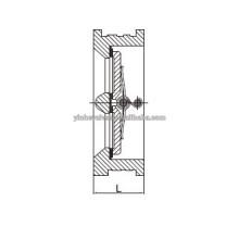 Función de la oblea de doble disco de hierro gris de la válvula de retención