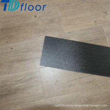 Planchas de lujo de PVC de grano de madera Seco piso trasero