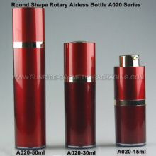 15ml 30ml 50ml rouge rond rotatif émulsion presse Airless Bottl