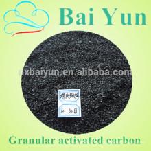 Precio de carbono activado competitivo malla 8-30 por fabricante de carbón activo