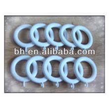 white decorative plastic curtain rings