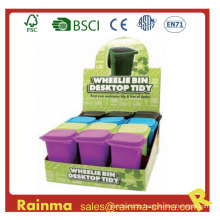 Plastic Desk Trash Bin Pen Holder for Promotional Gift