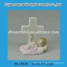 Diseño creativo bebé decoración de cerámica blanca