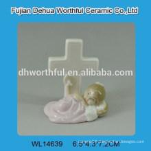 Creative baby design white ceramic decoration
