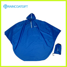 Poncho de pluie de moto en PVC bleu polyester