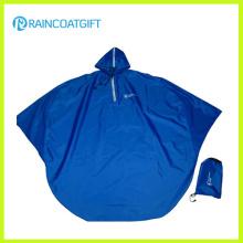 Blauer Polyester PVC Motorrad Regen Poncho