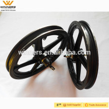 plastic front and rear 16'' bicycle wheels