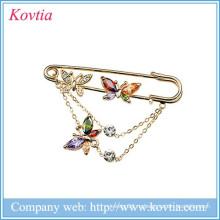 2015 Горячее сбывание дешевое ювелирное украшение цветастое кристаллическое и brooch штыря циркона в штоке