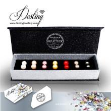 Definir destino joias cristais de Swarovski pérola brincos