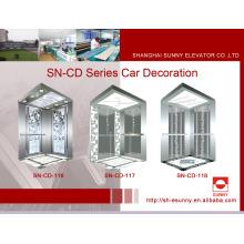 Aufzug Kabine St. St Rahmen mit Painted Acryl Lighting Panel (SN-CD-116)