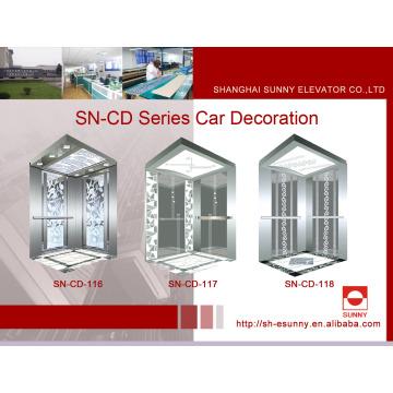 Cabina Elevator St. St Frame con panel de iluminación acrílica pintado (SN-CD-116)