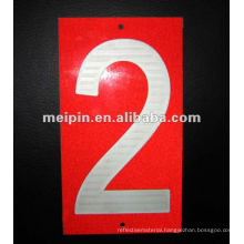 Reflective House Numbers Stickers