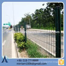 Pvc fuerte de la alta calidad del diseño de la venta nueva cubierta cubierta de la cerca del jardín del triángulo de la cerca