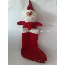 stuffed Christmas santa stocking, christmas socks decoration gift toy