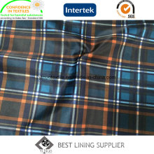 Polyester Men′s Suit Jacket Print Lining Fabric Classic Check Lining