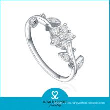 Neueste Mode Sterling Silber Verlobungsring (SH-R0205)