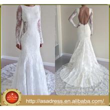 ASWY05 Latest Modern Sexy Mermaid Lace Alibaba Wedding Dress