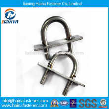 DIN3570 Stainless steel SS304 SS316 U Bolt with welding plate