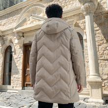 Custom men's casual warm outdoor down jacket