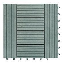 Factory Price Outdoor&Indoor Deck Tiles Interlocking DIY WPC Floor Tiles