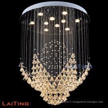 Lumières suspendues décoratives cristal société d'importation lustres pendentif lampe 92034