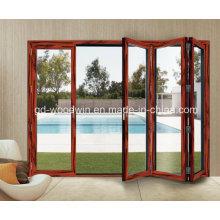 Thermal Break Aluminum Double Glass Bifold Door/Folding/Bifolding Door