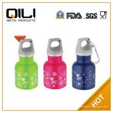 130ml estilo americano pequeño tamaño pared simple de acero inoxidable deporte /water bottle de pequeña capacidad