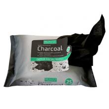 Toallitas desmaquillantes de limpieza facial de carbón vegetal OEM