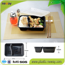 2 Compartments Microwaveable Plastic Disposable Lunch Box