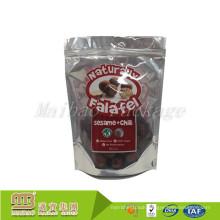 Customized Resealable Zip Lock Food Grade Aluminium Foil Standup Clear Bags