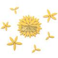 Gelbe Blattform Keramikmosaik für Mosaikkunst