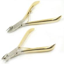 Wholesale 8712 Half Gold Plating Single Spring Full Jaw Ingrown Cuticle Nippers
