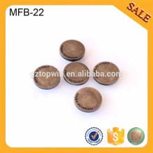 MFB22 Пользовательские логотип антикварные латунь кнопку deboss металла джинсы кнопку одежды джинсы кнопку