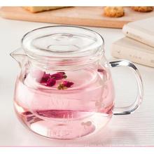 500ml Tetera de vidrio resistente al calor con infusor Café flor hoja tetera de té