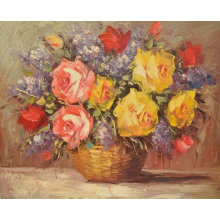 Настенная подвесная современная цветочная живопись
