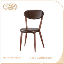 good material iron leather seat rest garden chair for sale
