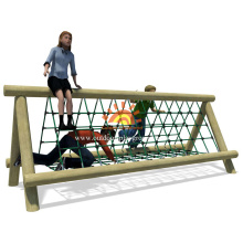 red de escalada de madera para niños