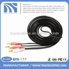 2RCA to 2RCA Cable Male Audio Video Dual Stereo AV Cable Cord