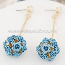 Jinhua 2016 light blue crystal beautiful pendant eardrop earring display stud