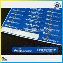 Etiqueta de cromo popular com serviço superior