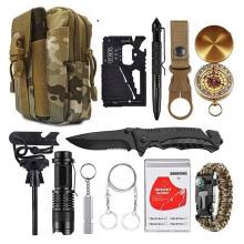 Emergency Bracelets Set, Ultimate Tactical Survival Gear Flint Fire Starter, Whistle, Best Wilderness Survival Kit