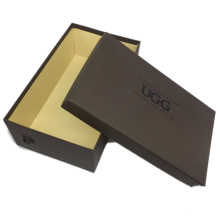 Customized Designs Foldable Recyclable Easy Shipping Coated Paper Black Shoe Box For Packaging