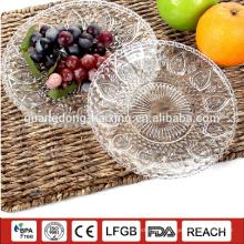 transparent round multi size big large diameter PS plate